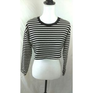 Free People Beach striped cropped top size XS